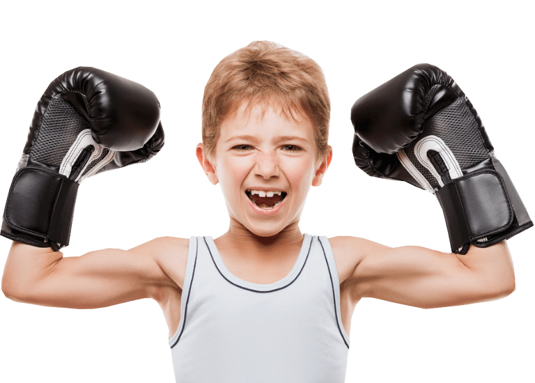 Boxing boy blacks gloves-min